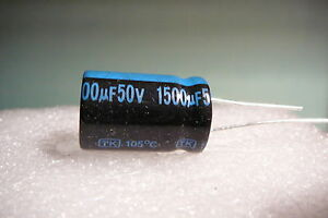 1500uf 1500mfd 50v Lot Of 5 Jamicon Radial Capacitors 105c Usa Free Shipping