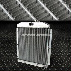 For 47 54 Chevy Truck Suburban V8 Full Aluminum 3 Row Racing Cooling Radiator