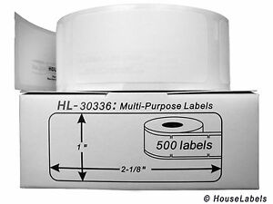 200 Rolls Of Multipurpose Labels In Mini cartons Fits Dymo Labelwriters 30336