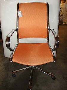 Orange Mesh Conference Chair