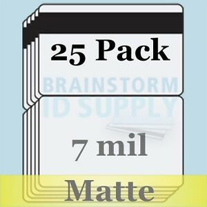 7 Mil Matte Hico Mag Cc size Butterfly Laminate Pouches For Teslin 25 Pack