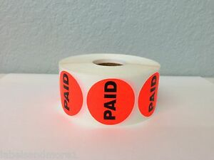 10 000 Labels 1 5 Round Br red Paid Retail Price Point Of Sale Stickers 10 Rls