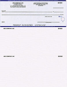 500 Printed Quickbooks Checks On Top With Custom Logo