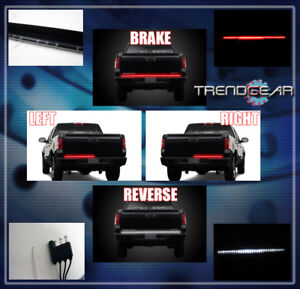 60 Universal Led Strip Tailgate Bed Brake Tail Light Bar Pickup Truck Van Suv