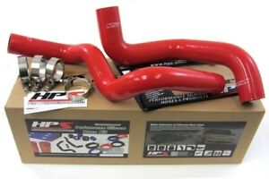 Hps Silicone Radiator Hose Kit W Clamps 96 02 Dodge Viper red