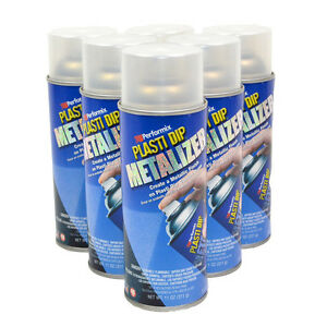 Plasti Dip Silver Metalizer Spray Metallic Lot Of 6 Cans