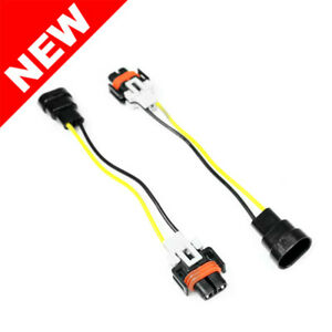 9006 To H11 H8 Headlight Fog Light Conversion Wiring Harness Adapters