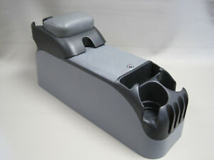 Gray Center Console With Gray Upholstered Armrest Crown Victoria P71 Police