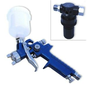 1 0mm Pro Hvlp Air Spray Paint Gun Mini Gravity Feed Compressor Automotive Tool
