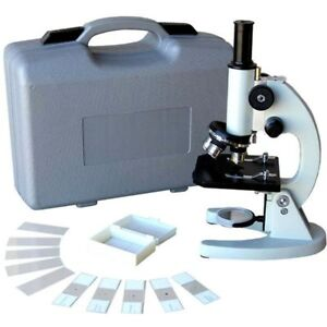 Amscope 40x 640x Metal Body Glass Lens Biology Student Microscope W Abs Case