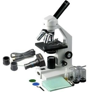 Amscope 40x 2500x Advanced Home School Microscope With Mechanical Stage