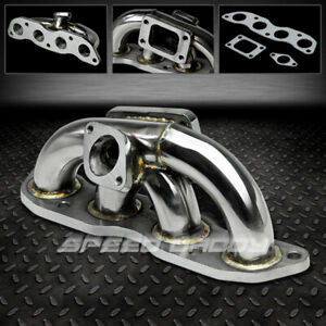 T3 T4 Stainless Racing Turbo Manifold Exhaust 07 08 Honda Fit Jazz Gd3 L15a1 2wd