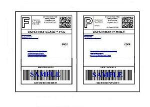 2000 Self Adhesive 8 5 X 11 Shipping Labels For Ups Usps Fedex Paypal Free Ship