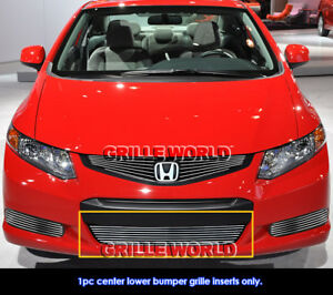 Fits 2012 2013 Honda Civic Coupe Si Lower Bumper Billet Grille Insert