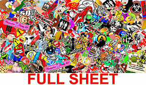 1 Sticker Bomb Sheet Jdm Honda Decal 15 X 30 Each 3m Wrap Vinyl Hd Gloss