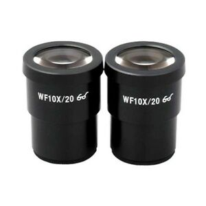 Amscope Pair Of 10x Super Widefield Viewing Microscope Eyepieces 30mm Mount