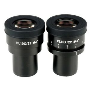 Amscope 10x Plan Eyepieces one Focusable For Microscopes 30mm