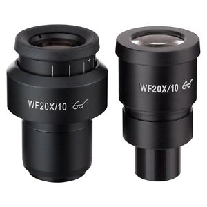 Amscope Pair Of Extreme Adjustable Widefield 20x Eyepieces 30mm For Microscope