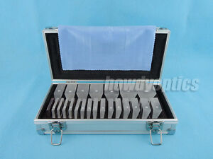 22pcs Optical Prism Bar Set Aluminum Case New