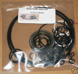 Komatsu Pc200 6 Pc220 6 pc200 7 Pc220lc 7 Hydraulic Main Pump Seal Kit