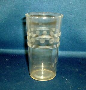 Beautiful Antique Art Deco Acid Etched Drinking Glass 1920 S Classical Design