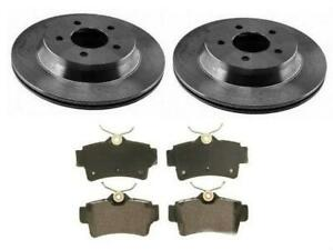 1998 2004 Ford Mustang Cobra Rear Brake Rotors Pads