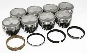 Sealed Power Chevy 383 4 030 200 Domed Pistons Moly Rings Kit Sbc H635cp30