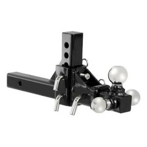 Adjustable 2 Reciever Hitch Tri Ball Pro Mount 10 3 Way Triple Tow 0 Ship
