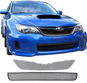 Ccg 11 13 Subaru Impreza Wrx Grill Grille Mesh 2 Piece Kit Black Powder Coat