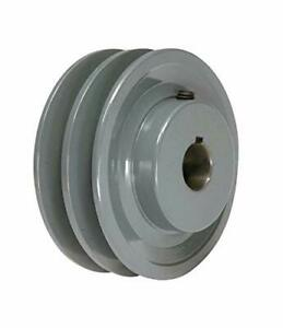 Cast Iron Pulley 3 55 For Electric Motor 2 Groove For B 5l 5 8 Belts 2bk34h