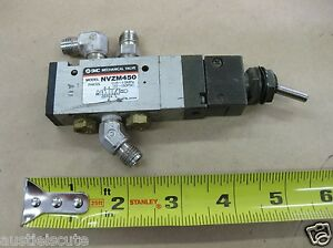 Smc Pneumatic Toggle Switch Valve Mechanical Nvzm450 Swagelok Tube Fittings