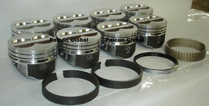 Speed Pro Chevy 350 5 7 Lt1 Hypereutectic Coated Pistons 8 Moly Rings 030