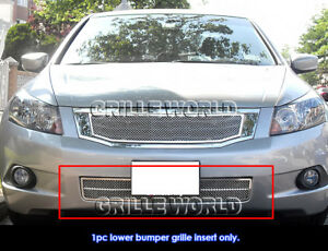 Fits 2008 2010 Honda Accord Lower Bumper Stainless Mesh Grille