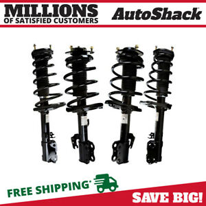 Front And Rear Complete Strut Coil Spring Assembly Set Of 4 For Toyota Camry