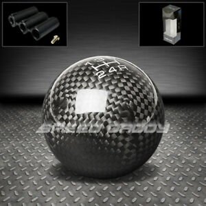 Nrg Universal Racing Manual 5 Speed Mt Ball Style Stick Shift Knob Carbon Fiber