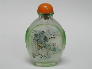 Superb Antique Chinese Reverse Painted Snuff Bottle