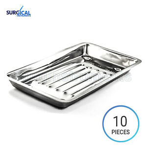 10 Scaler Trays Curettes Explorers Mirrors Probes Surgical Dental Instruments