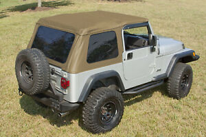Xhd Spice Bowless Soft Top For Jeep Wrangler Tj 1997 2006 13750 37 Rugged Ridge