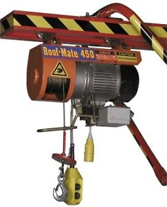 Construction Equipment Material Cable Hoist 450lb 110v Electric W Gantry