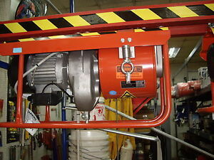 Construction Equipment Material 185 Cable Hoist 1100lb 220v Electric W Gantry