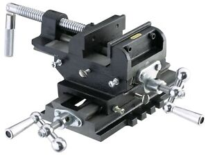 Heavy Duty 6 Cross Drill Press Vise Compound Slide Metal Milling 2 Way X Y Vise