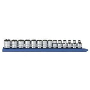 Gearwrench 80560 14 Piece 3 8 Drive 12 Point Metric Socket Set