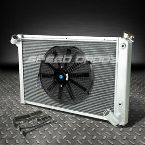 3 Row Aluminum Racing Radiator 14 Fan 68 82 Chevy Sb Corvette 5 0 5 7 7 4 V8