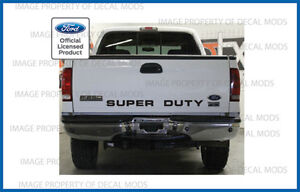 99 07 Ford Super Duty Tailgate Banner Decal Sticker Letters F250 F350 F450