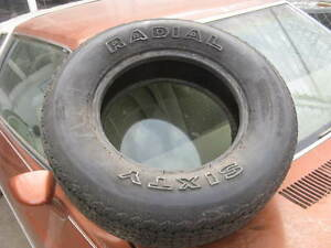 Nos Radial Sixty P235 60r14 Vintage Tire Raised White Letters