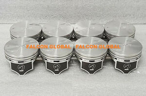 Chevy 7 4 454 Sealed Power Hypereutectic Coated Skirt Pistons Set 8 1996 00 Std
