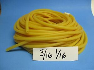100 Feet 3 16 Id X 5 16 Od X 1 16 Wall Natural Surgical Latex Tubing Amber B7
