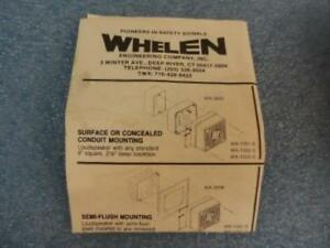 Whelen Cat No Wa1052f Quadra tone Speaker W box And Installation Instructions