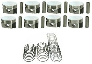 Speed Pro 350ci Oldsmobile Olds 350 W31 Forged Flat Top Pistons Moly Rings 30