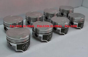 Speed Pro Trw Ford Mercury 351c Forged Coated Skirt Flat Top Pistons Set 8 040